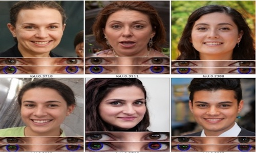 A grid of six female faces; can you tell which are fake?